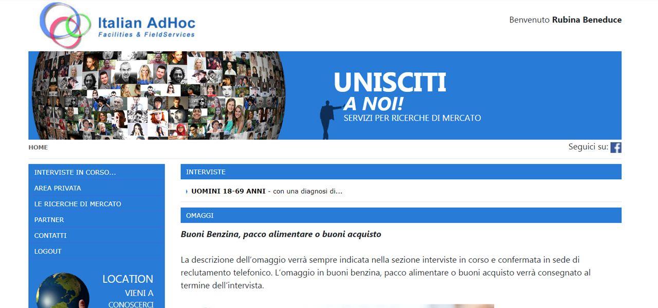 I nostri lavori r d digital - Italian ad hoc interviste ...
